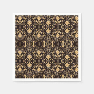 Abstraction Art Damask Pattern Wallpaper Paper Napkin