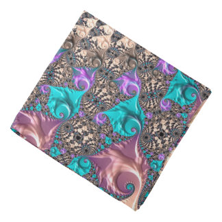 Abstraction Art Lilac And Purple Wheen Bandana