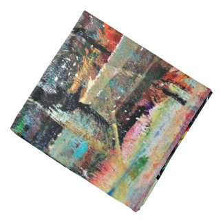 Abstraction Art Multi Colored Background Bandana