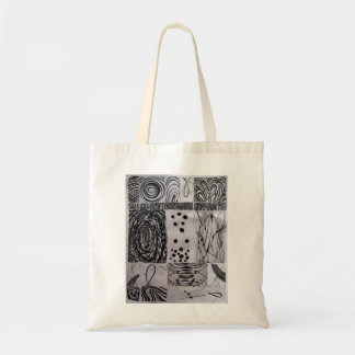 abstraction budget tote bag