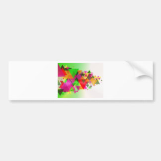abstraction bumper sticker
