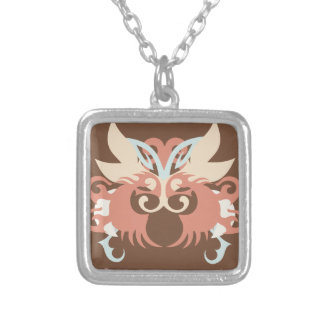 Abstraction Five Tlaloc Silver Plated Necklace
