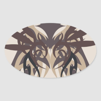 Abstraction Four Terra Oval Sticker