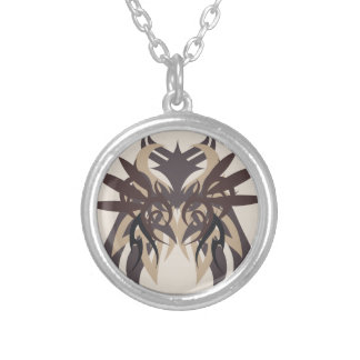 Abstraction Four Terra Silver Plated Necklace