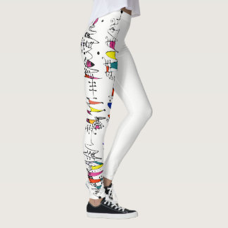 Abstraction from undulating lines leggings