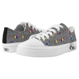 Abstraction from undulating lines Low-Top sneakers