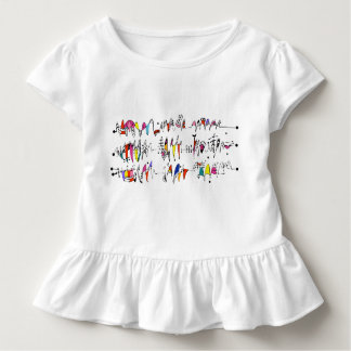 Abstraction from undulating lines toddler t-shirt