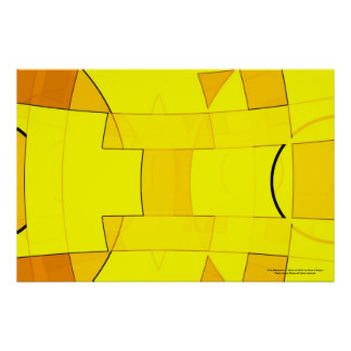 Abstraction in Yellow Poster