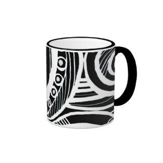Abstraction Ringer Mug
