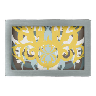 Abstraction Nine Imperious Rectangular Belt Buckle