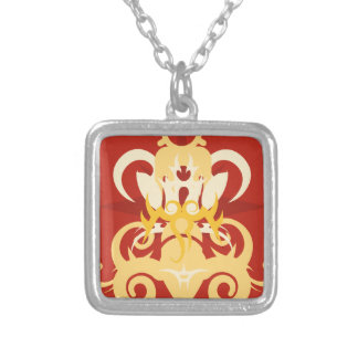 Abstraction One Osiris Silver Plated Necklace
