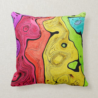 Abstraction Pattern Contour Style Bright And Color Throw Pillow