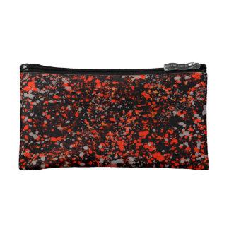 Abstraction Seamless Dot Dabs Red Black And Gray Makeup Bag