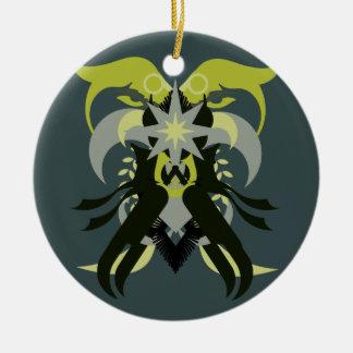 Abstraction Seven Loki Ceramic Ornament