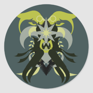 Abstraction Seven Loki Classic Round Sticker