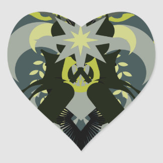 Abstraction Seven Loki Heart Sticker
