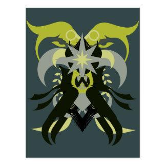 Abstraction Seven Loki Postcard