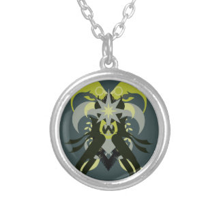 Abstraction Seven Loki Silver Plated Necklace