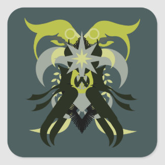 Abstraction Seven Loki Square Sticker