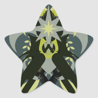 Abstraction Seven Loki Star Sticker