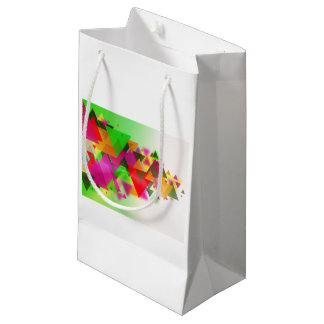 abstraction small gift bag