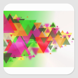 abstraction square sticker