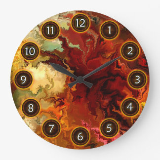 Abstraction surrealist by rafi talby large clock
