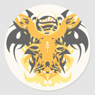 Abstraction Ten Nemesis Classic Round Sticker