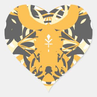 Abstraction Ten Nemesis Heart Sticker