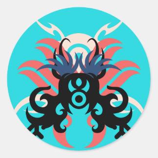 Abstraction Three Aura Classic Round Sticker