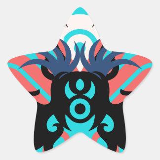 Abstraction Three Aura Star Sticker