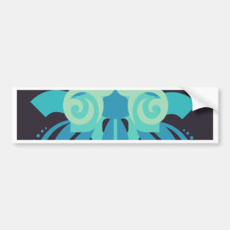 Abstraction Two Poseidon Bumper Sticker
