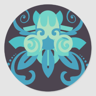 Abstraction Two Poseidon Classic Round Sticker
