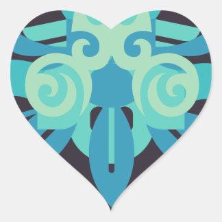 Abstraction Two Poseidon Heart Sticker