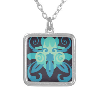 Abstraction Two Poseidon Silver Plated Necklace
