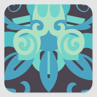 Abstraction Two Poseidon Square Sticker
