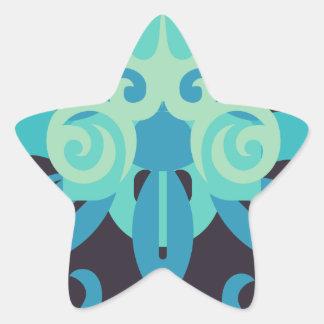 Abstraction Two Poseidon Star Sticker