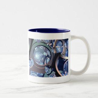 Abstractive Two-Tone Coffee Mug