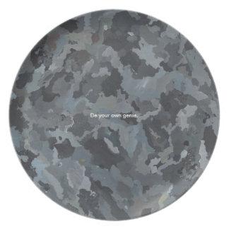 abstractloren_Igneous_No18_acrylic_16x20in_2016_ca Plate