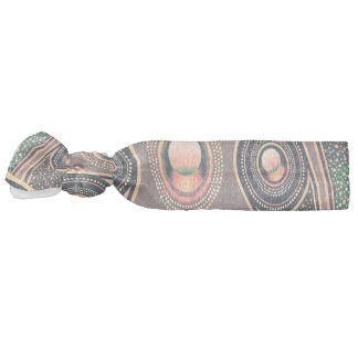 Abstractly Art Background Pink Green And Purple Ribbon Hair Ties