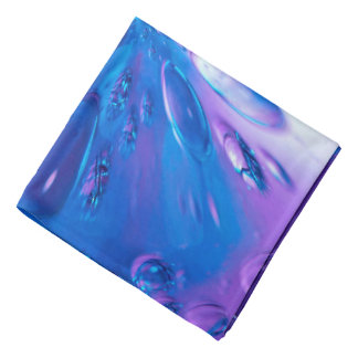 Abstractly Art Blue Water Drops Background Bandana