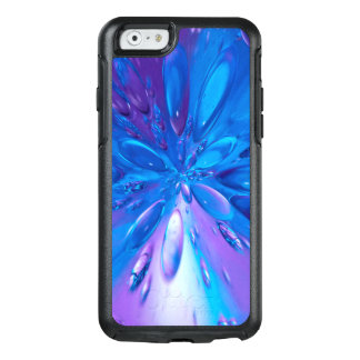 Abstractly Art Blue Water Drops Background OtterBox iPhone 6/6s Case