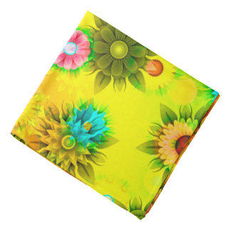Abstractly Art, Bright & Colorful Bandana