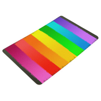 Abstractly Art Colorful Rainbow Background Floor Mat