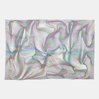 Abstractly Art Multi Color Contorted Waves Kitchen Towel