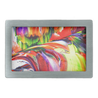 Abstractly in perfection 6 rectangular belt buckle