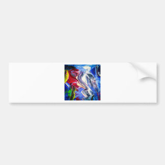 Abstractly in perfection bumper sticker