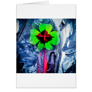 Abstractly in perfection luck card