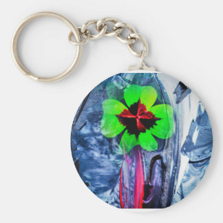 Abstractly in perfection luck keychain