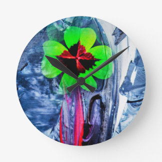 Abstractly in perfection luck round clock